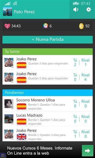 Descarga Preguntados para Windows Phone 1