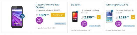 Promoción de Smartphones 50% Off en Movistar para Navidad 2