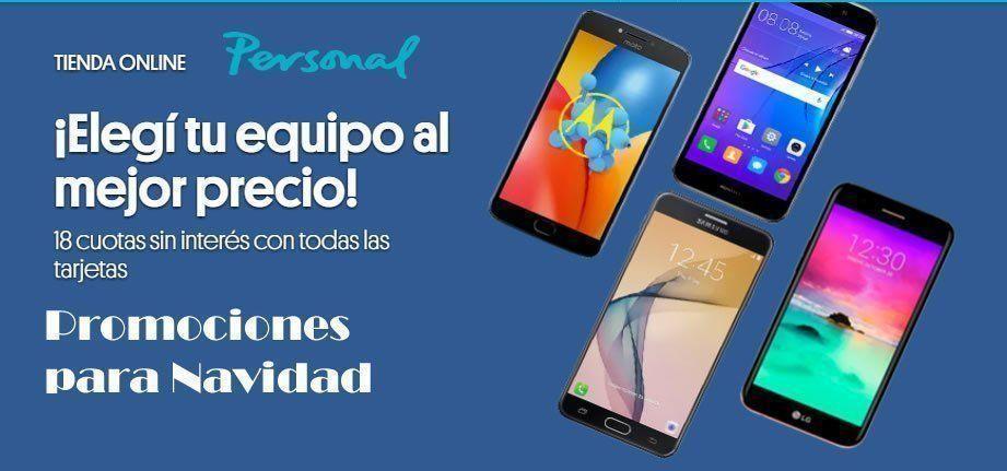Promociones de Celulares y Smartphones para Navidad 2018 en Personal 20