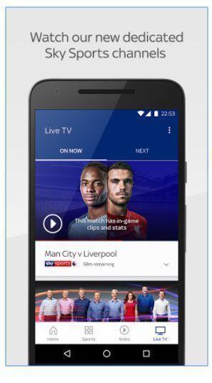 aplicacion android para ver sky sports