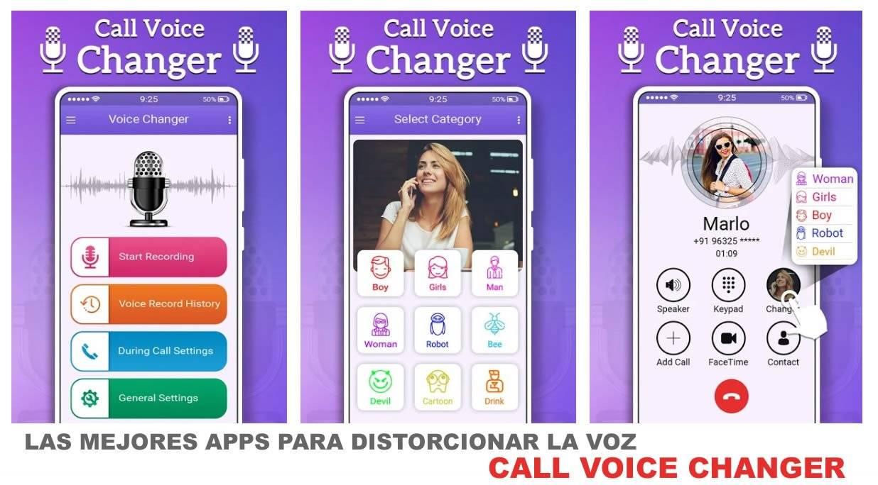 Call Voice Changer, excelente app para cambiar o distorsionar nuestra voz.