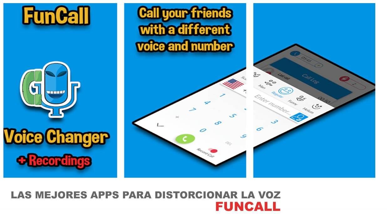FunCall otra de las excelentes apps para Android que nos permite distorcionar la voz