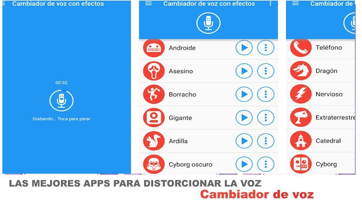Cambiador de llamado de voz es una de las apps mas simples de usar