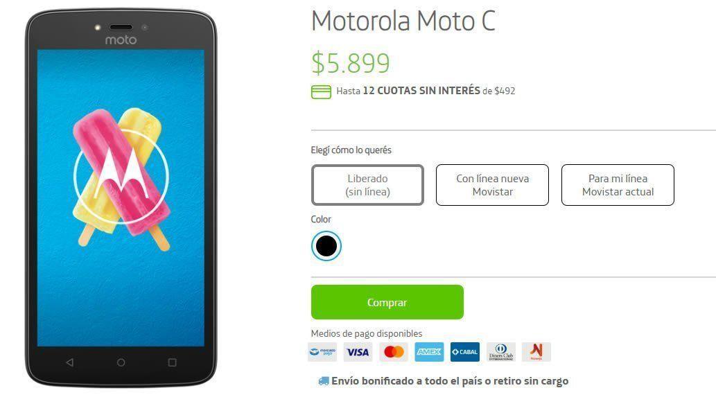 El Moto C es uno de los celulares mas baratos que le podemos regalar a papa en este día del padre