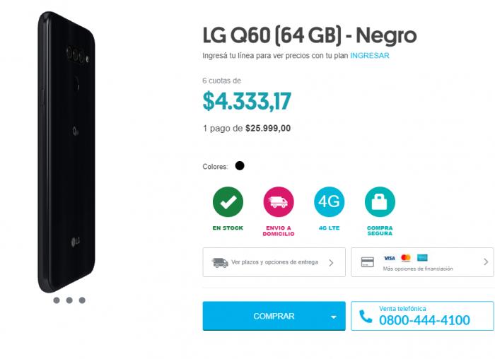 LG Q60 en promocion dia del padre personal